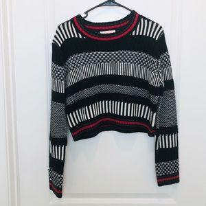 Lulumari Black White Cropped Sweater Medium